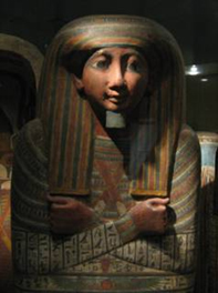 Sarcophagus with arms crossed